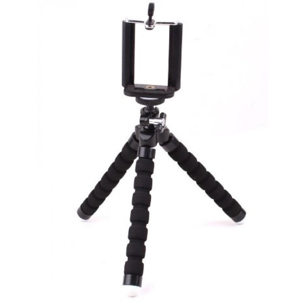 Τρίποδο Octopus με βάση στήριξης κινητού / κάμερας - Μαύρο - OEM Τρίποδα