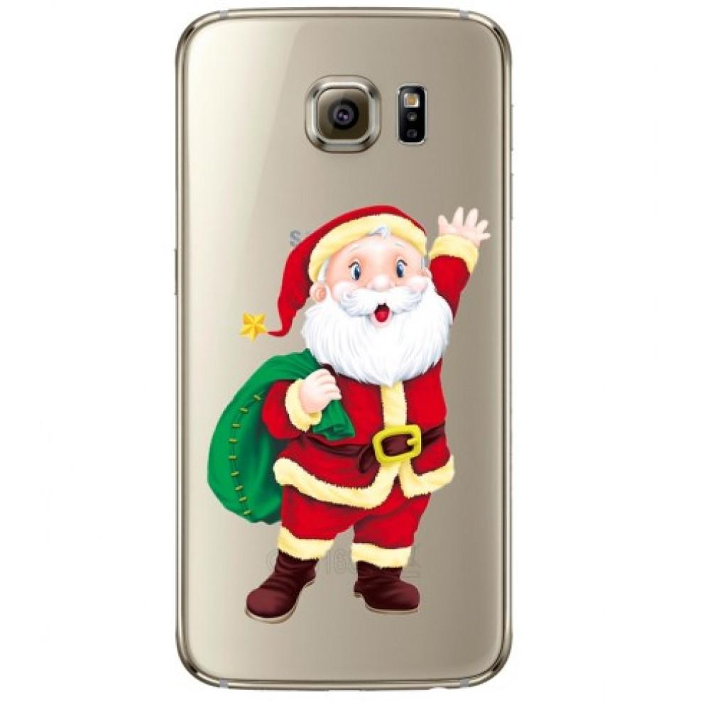 Θήκη Samsung Galaxy S6 Σιλικόνης TPU Santa Claus - Διάφανο - OEM Θήκες Κινητών