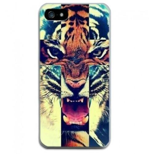 Θήκη iphone 7/8 Σιλικόνης TPU Τίγρης - 2249 - Μπλε - OEM