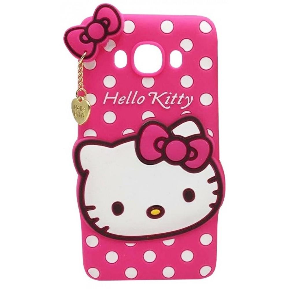 Θήκη Samsung Galaxy J7 2016 ( J710 ) Σιλικόνης TPU Hello Kitty 3D - 2516 - Ροζ - OEM Θήκες Κινητών