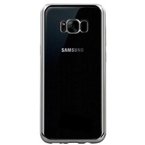 Θήκη Samsung Galaxy S8 Σιλικόνης TPU Πλαίσιο - 2565 - Ασημί - OEM