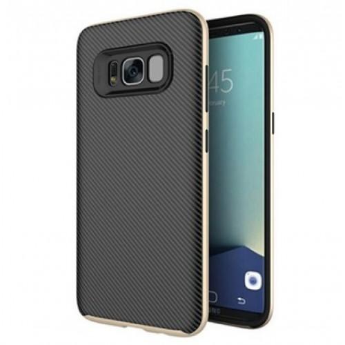 Θήκη Samsung Galaxy S8 Hybrid Σιλικόνης με Πλαστικό PC Πλαίσιο - 2593 - Χρυσό - OEM