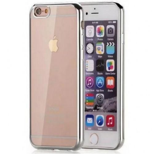 Θήκη iphone 7/8 Σιλικόνης TPU - 2655 - Ασημί - OEM