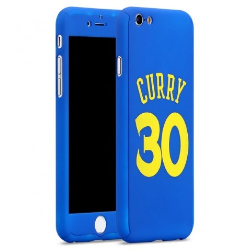 Θήκη iphone 7/8 Hybrid 360 Full body + Tempered Glass (Τζάμι) - Προστασία Οθόνης - CURRY - 2725 - Μπλέ - OEM