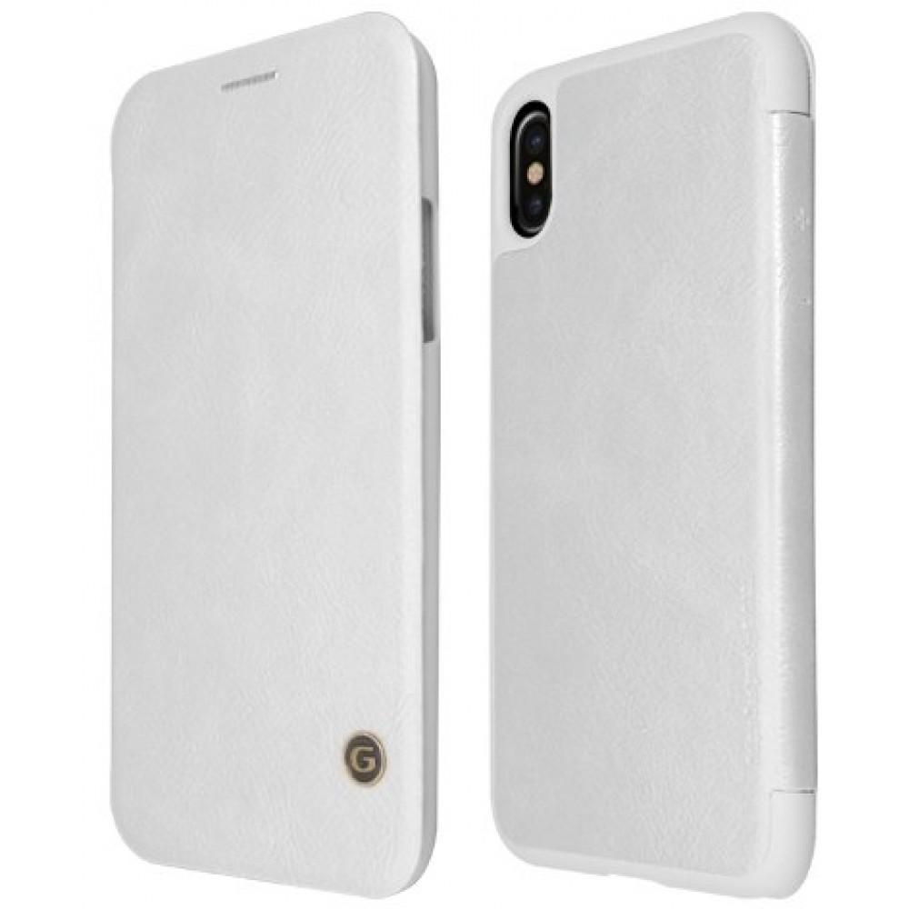 Θήκη iphone X/XS G-CASE Book Business Serie - 2981 - Λευκό Θήκες Κινητών