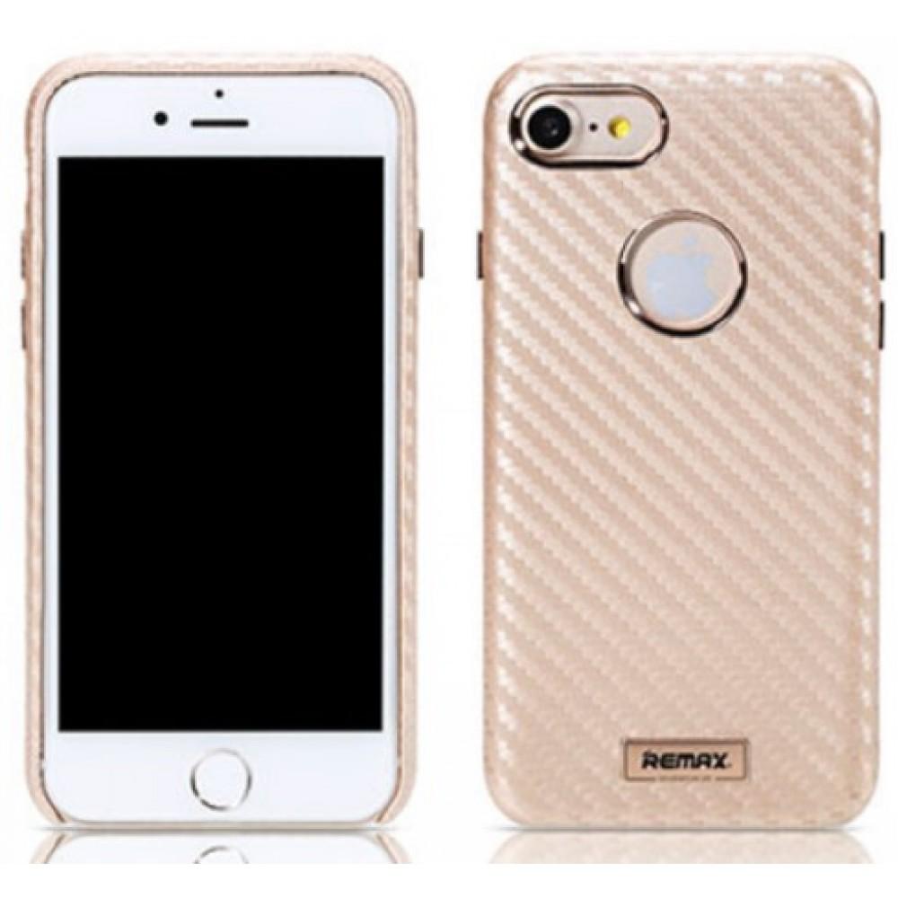 Θήκη iphone 7/8 Remax Maso Series PU Leather Carbon - 3161 - Χρυσό  Θήκες Κινητών
