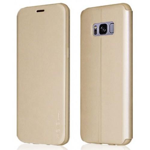 Θήκη Samsung Galaxy S8 (G950) Book Case X-Level Fib Color Series - 3264 - Χρυσό