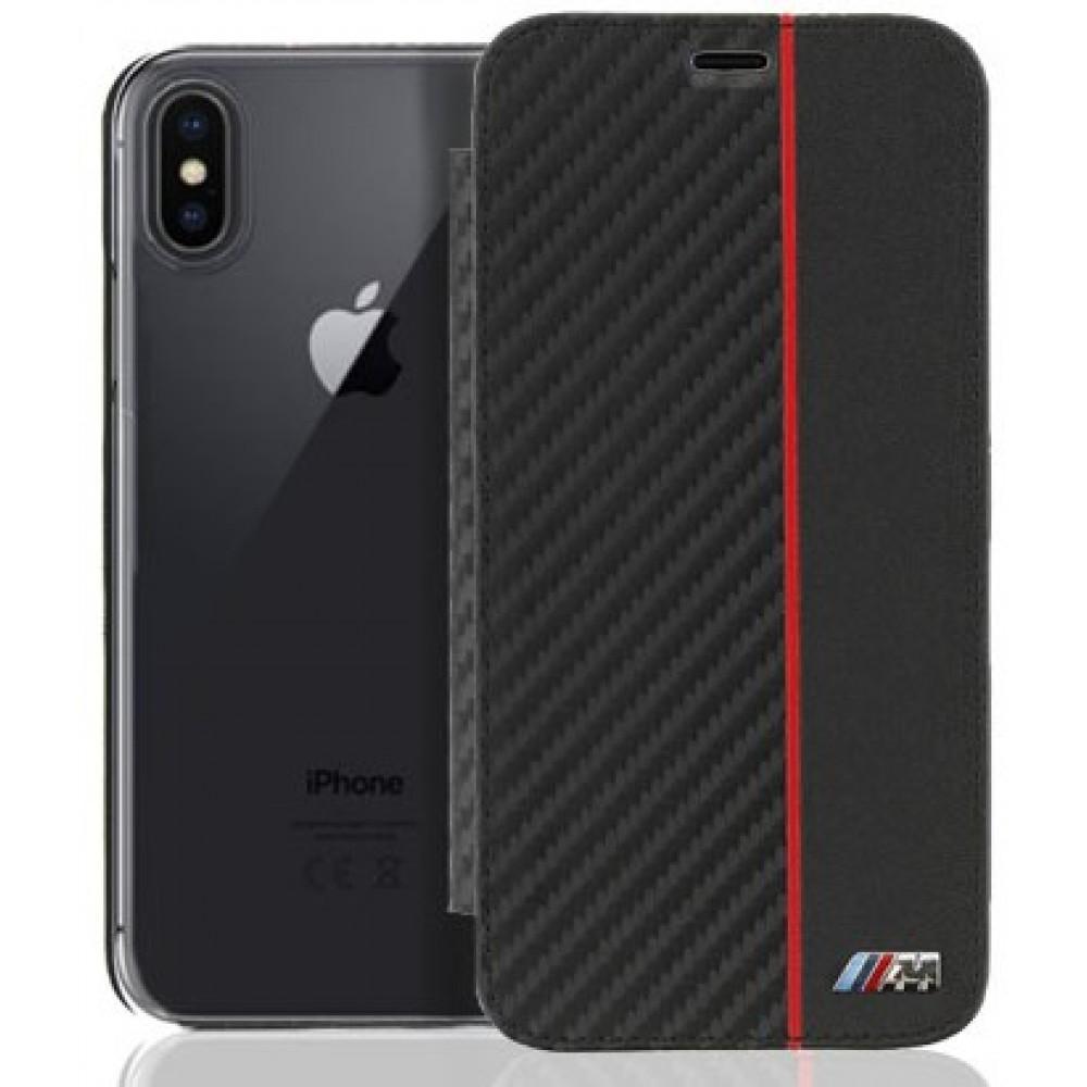Θήκη iphone X/XSBMW Book Case Carbon - 3269 - Μαύρο Θήκες Κινητών