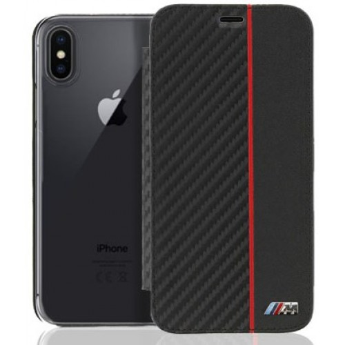 Θήκη iphone X BMW Book Case Carbon - 3269 - Μαύρο