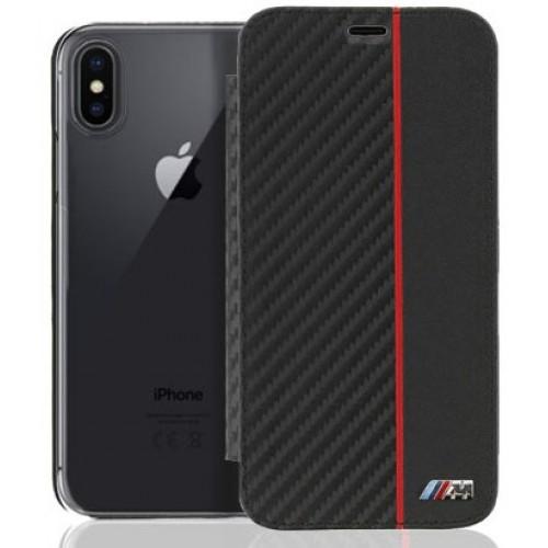 Θήκη iphone X BMW Book Case Carbon - 3269 - Μαύρο