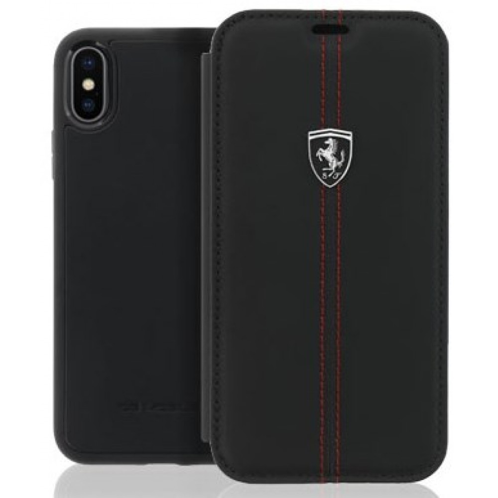 Θήκη iphone X/XS Ferrari Off Track Book Case Leather - 3272 - Μαύρο Θήκες Κινητών