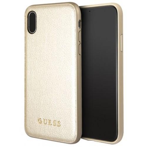 Θήκη iphone X/XS Guess Faceplate Iridescent - 3290 - Χρυσό