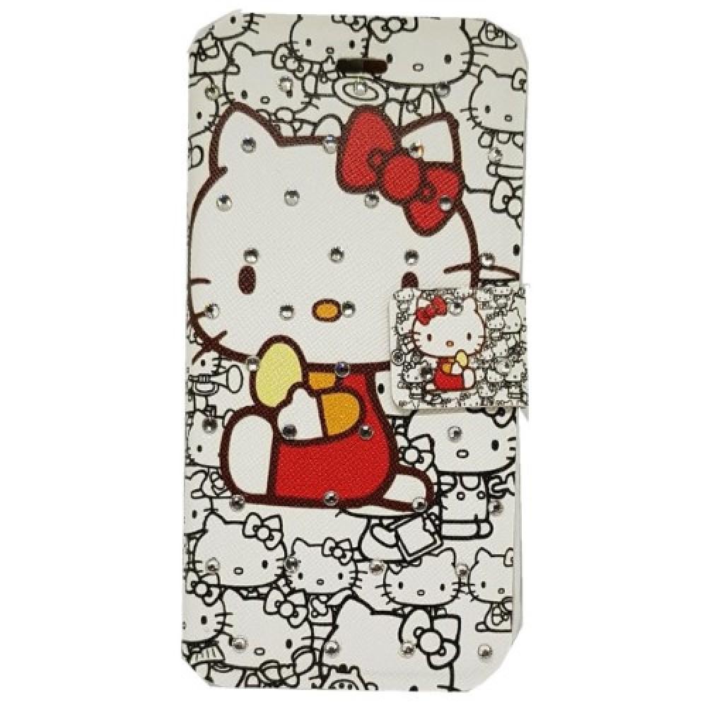 Θήκη iphone 7/8  PU Leather Πορτοφόλι Flip Hello Kitty - 3536 - Λευκό - OEM Θήκες Κινητών