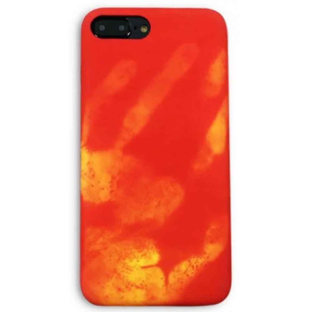 Θήκη iphone 7/8 Σκληρή που αλλάζει χρώμα με την θερμότητα - 3567 - Κόκκινο - OEM Θήκες Κινητών