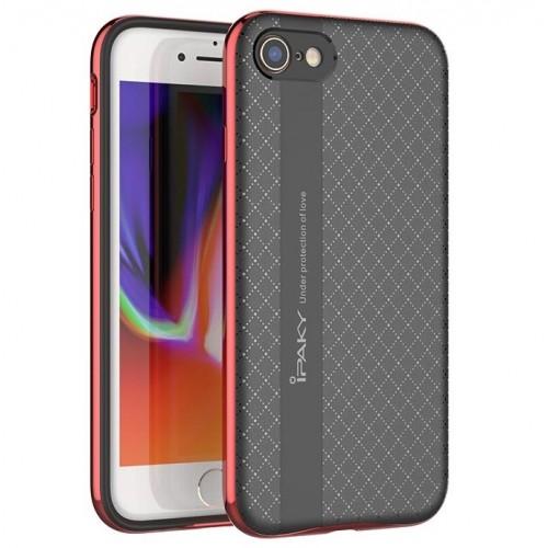 Θήκη iphone 7/8 iPaky Bumblebee Neo Hybrid Σιλικόνης με Πλαστικό PC Πλαίσιο - 3668 - Κόκκινο - OEM