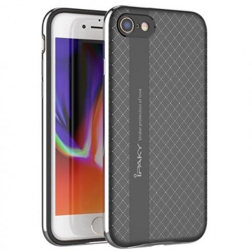 Θήκη iphone 7/8 iPaky Bumblebee Neo Hybrid Σιλικόνης με Πλαστικό PC Πλαίσιο και τρύπα- 3670 - Ασημί - OEM