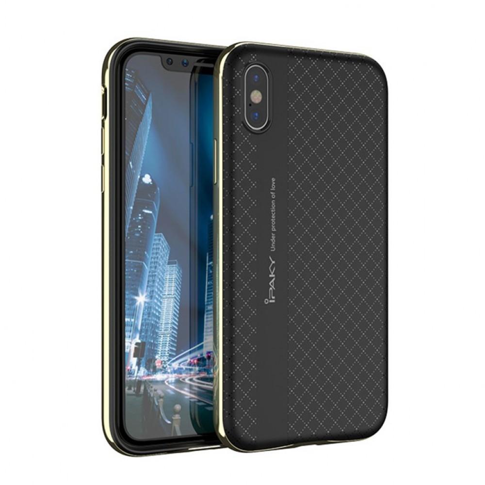 Θήκη iphone X/XS iPaky Bumblebee Neo Hybrid Σιλικόνης με Πλαστικό PC Πλαίσιο - 3671 - Χρυσό - OEM Θήκες Κινητών