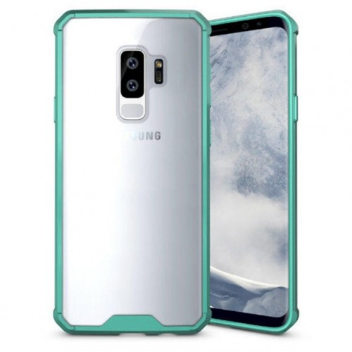 Θήκη Samsung Galaxy S9 (G960F) Shockproof Back Cover - 3698 - Διάφανο Πράσινο - OEM