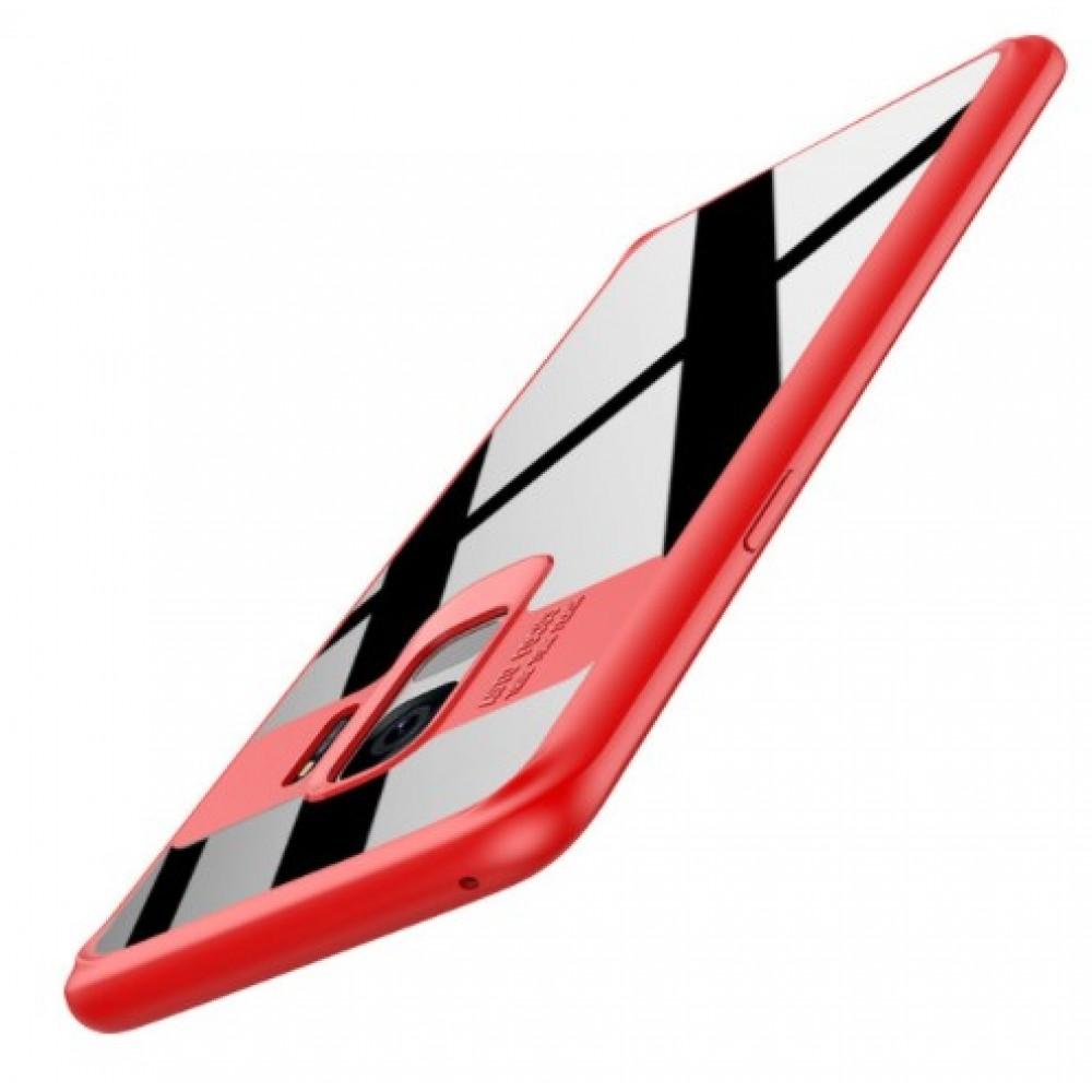 Θήκη Samsung Galaxy S9 (G960F) Σιλικόνη Σκληρή και Σκληρό Πλαστικό Auto Focus - 3706 - Κόκκινο - OEM Θήκες Κινητών