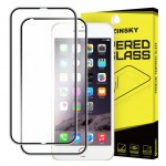 Tempered Glass (Τζάμι) - Προστασία Οθόνης + Back Cover glass για iphone 6 / 6s 0.30mm 9H Full Cover 3D Titanium Curved Edge - 3730 - Μαύρο - Wozinsky Tempered Glass - Προστασία Οθόνης