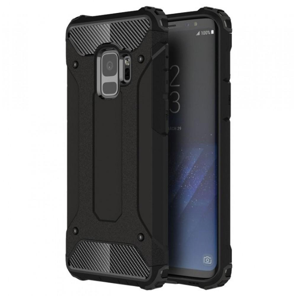 Θήκη Samsung Galaxy S9 (G960F) Hybrid Armor Σιλικόνης και Σκληρό πλαστικό (PC & TPU) - 3775 - Μαύρο - OEM Θήκες Κινητών