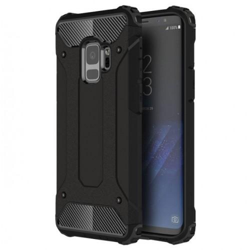 Θήκη Samsung Galaxy S9 (G960F) Σιλικόνης και Σκληρό πλαστικό (PC & TPU) - 3775 - Μαύρο - OEM