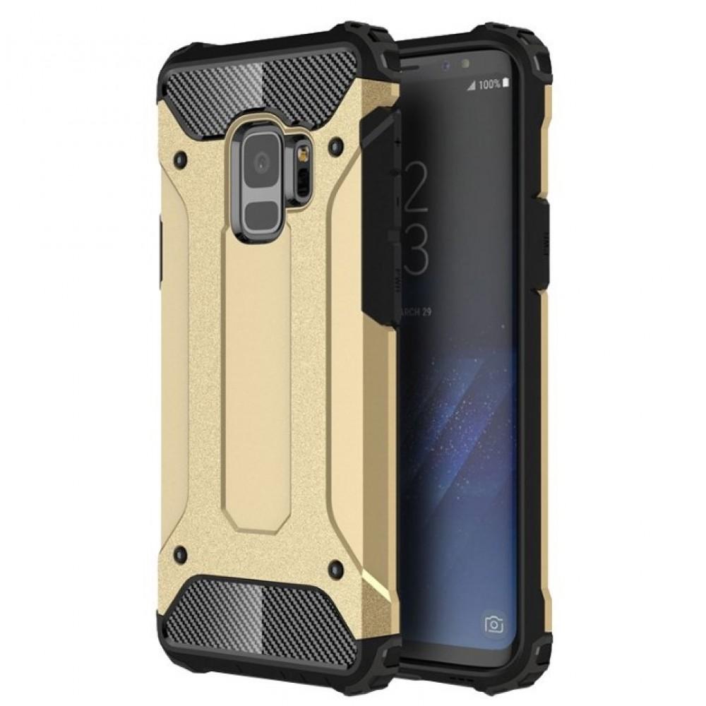 Θήκη Samsung Galaxy S9 (G960F) Hybrid Armor Σιλικόνης και Σκληρό πλαστικό (PC & TPU) - 3776 - Χρυσό - OEM Θήκες Κινητών