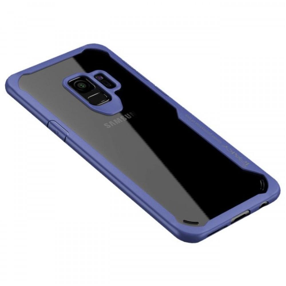 Θήκη Samsung Galaxy S9 (G960F) iPaky Frame Hybrid Σκληρή Πλαστική - 3784 - Μπλέ - OEM Θήκες Κινητών