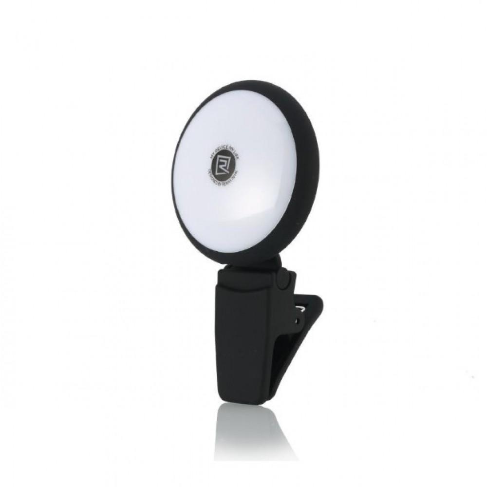 Remax mini LED Lamp selfie Spotlight Nine brightness ML-01 - 4072 - Μαύρο Selfie sticks