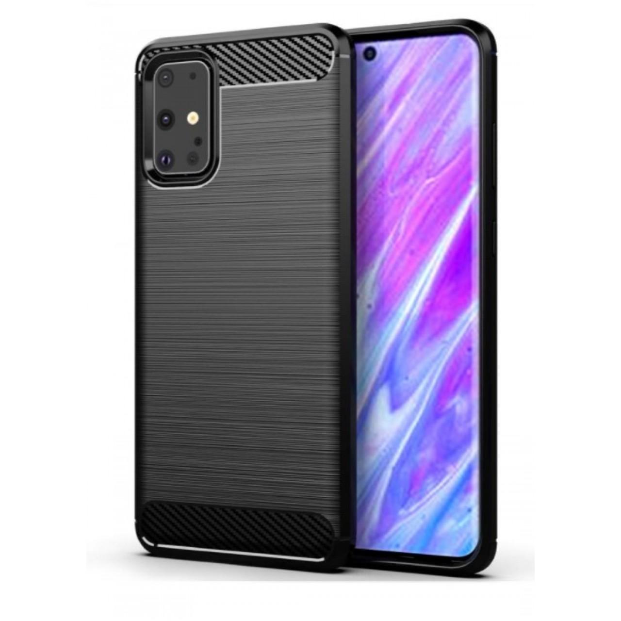 Θήκη Samsung Galaxy S20 PLUS σιλικόνης Carbon Case Flexible Cover TPU - 5098 - Μαύρο - ΟΕΜ