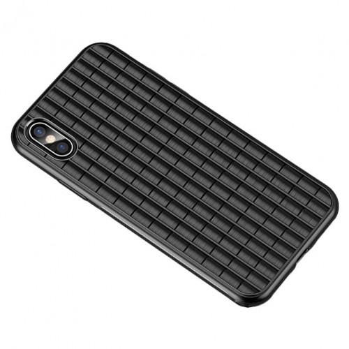 Θήκη iphone X/XS iPaky Waffle Flexible Cover TPU Σιλικόνης - 4598 - Μαύρο - ΟΕΜ