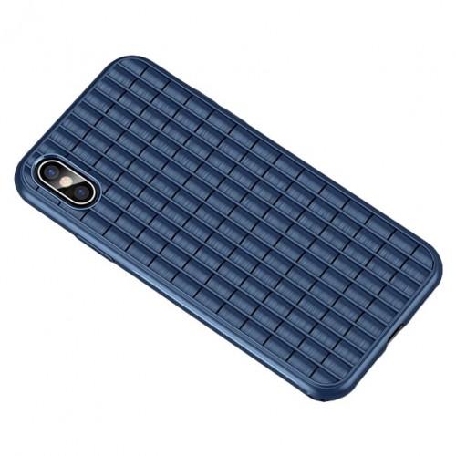 Θήκη iphone X/XS iPaky Waffle Flexible Cover TPU Σιλικόνης - 4599 - Μπλε - ΟΕΜ