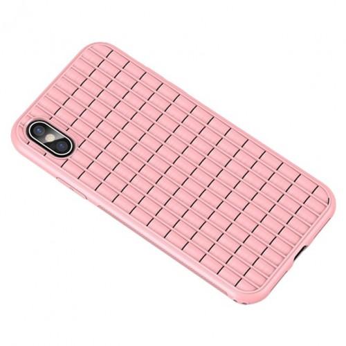Θήκη iphone X/XS iPaky Waffle Flexible Cover TPU Σιλικόνης - 4600 - Ροζ - ΟΕΜ