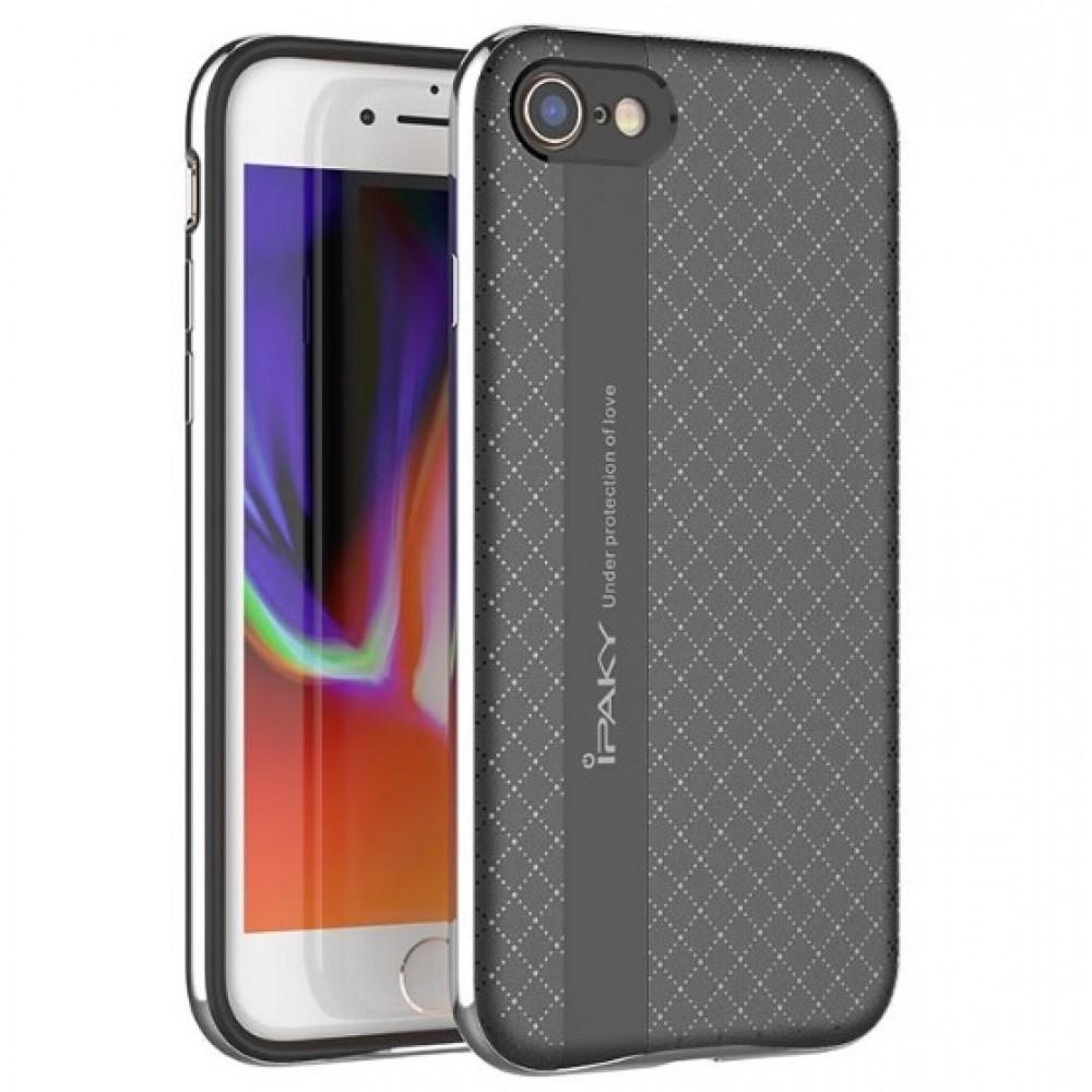 Θήκη iphone 7/8 iPaky Bumblebee Neo Hybrid Σιλικόνης με Πλαστικό PC Πλαίσιο - 4246 - Ασημί - OEM Θήκες Κινητών