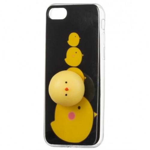 Θήκη iphone 7/8 4D Σιλικόνης Αντί-στρες Squishy Κοτόπουλο - 4265 - Μαύρο - ΟΕΜ