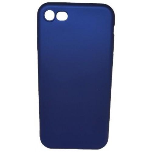 Θήκη iphone 7/8 Ματ σιλικόνης Χωρίς τρύπα στο σήμα - 4470 - Μπλε - OEM