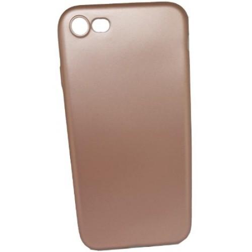 Θήκη iphone 7/8 Ματ σιλικόνης Χωρίς τρύπα στο σήμα - 4472 - Ροζ Χρυσό - OEM