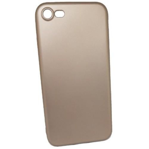 Θήκη iphone 7/8 Ματ σιλικόνης Χωρίς τρύπα στο σήμα - 4473 - Χρυσό - OEM