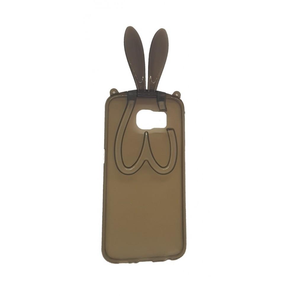 Θήκη Samsung Galaxy S6 Σιλικόνης TPU Rabbit Ears Stand 3D - 4052 - Καφέ - OEM Θήκες Κινητών