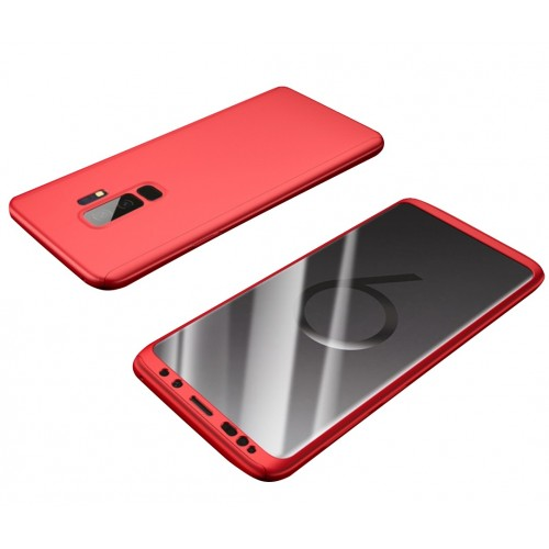 Θήκη Samsung Galaxy S9 (G960F) Hybrid 360 Full body + Μεμβράνη Προστασίας Οθόνης - 3811 - Κόκκινο - OEM