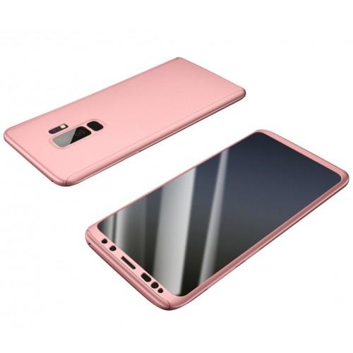 Θήκη Samsung Galaxy S9 (G960F) Hybrid 360 Full body + Μεμβράνη Προστασίας Οθόνης - 3814 - Ροζ - OEM