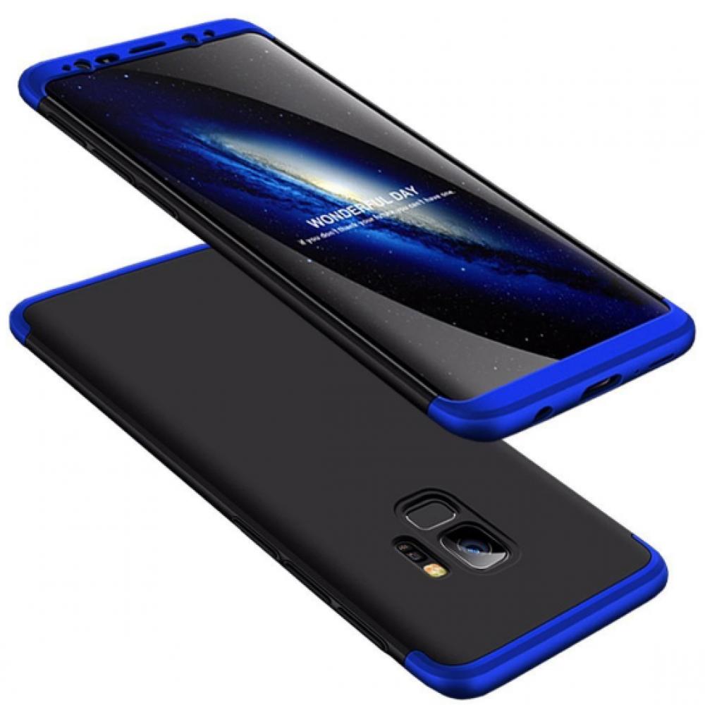 Θήκη Samsung Galaxy S9 (G960F) Full Body GKK 360° Σκληρή Πλαστική - 3926 - Μαύρο Μπλέ - ΟΕΜ Θήκες Κινητών