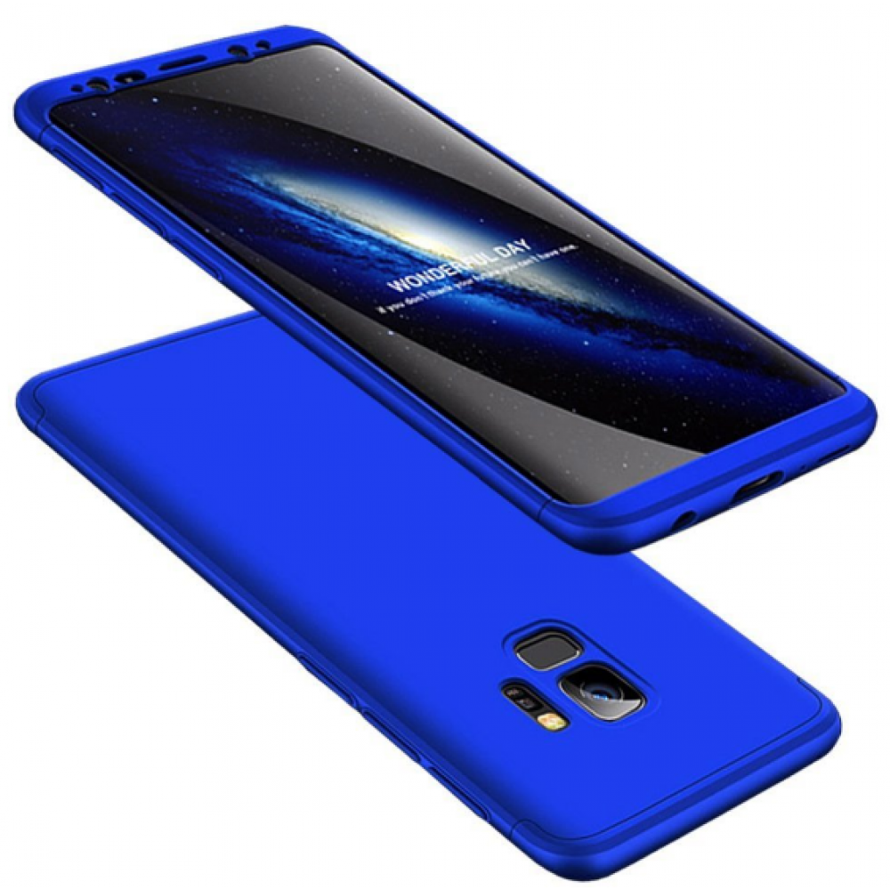 Θήκη Samsung Galaxy S9 (G960F) Full Body GKK 360° Σκληρή Πλαστική - 3927 - Μπλέ - ΟΕΜ Θήκες Κινητών